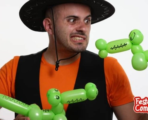 Animali con palloncini - Il Coccodrillo come fa