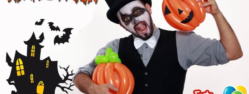 Zucca di Halloween - Sculture con palloncini