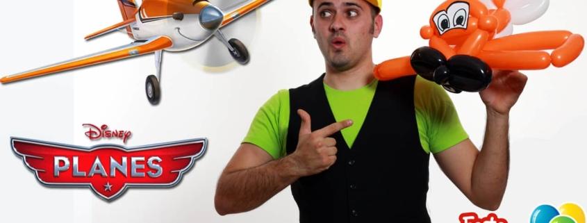 Planes Disney Dusty - Aeroplano Dusty con palloncini