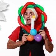 Ghirlanda di Natale - Decoriamo con i Palloncini