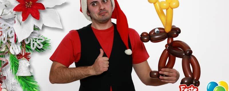 Renne di Babbo Natale - Sculture di Palloncini
