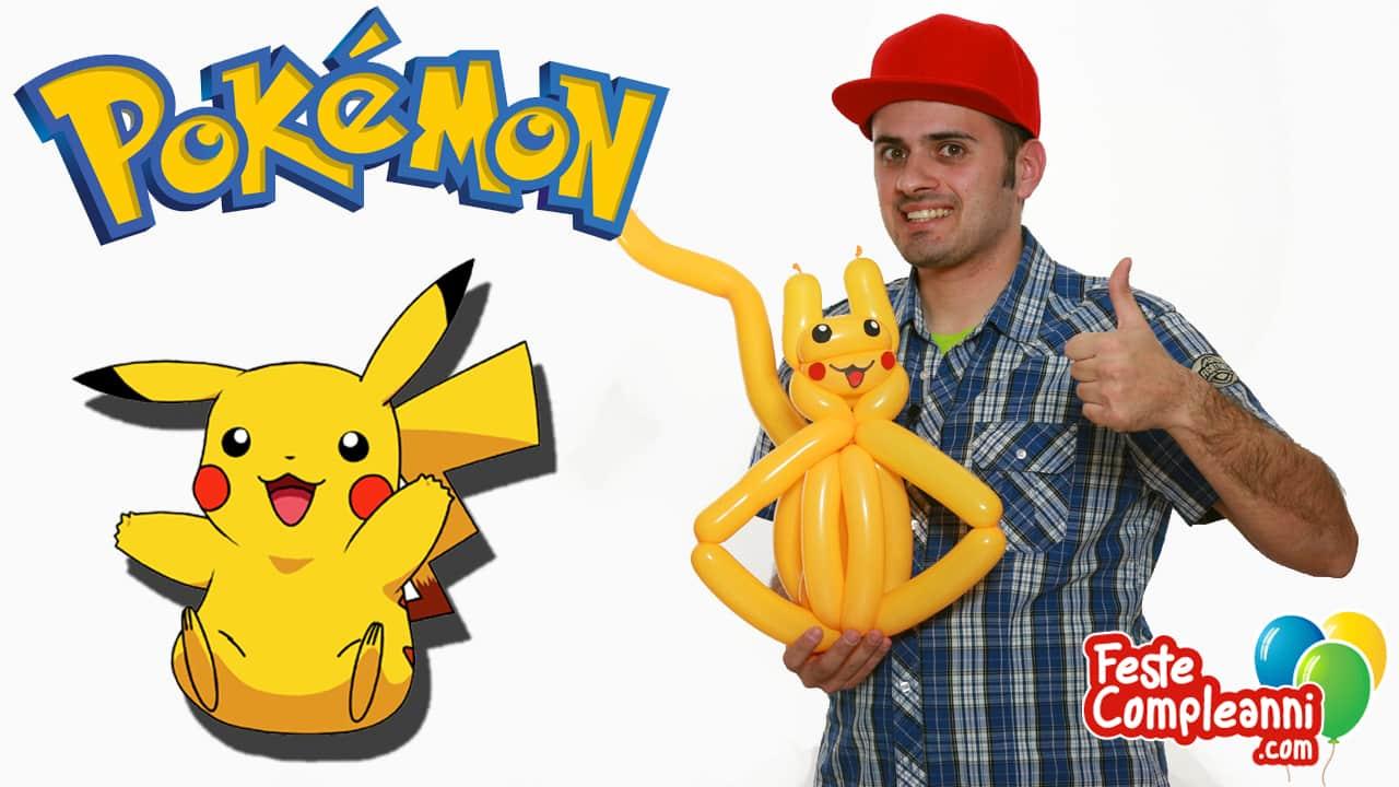 Pokemon Pikachu - Sculture con Palloncini