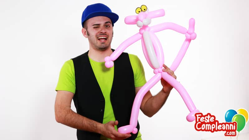 Pink Panther - Pantera Rosa coni Palloncini