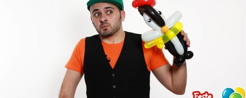 Palloncino Pinguino - Scultura con Palloncini