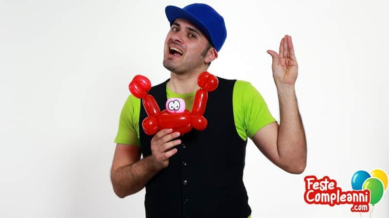Palloncini per animazioni - Granchio con Palloncini
