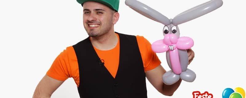 Coniglio Pasquale - Decorare con i palloncini