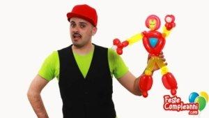 Iron Man Balloon - Scultura con Palloncini