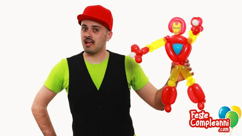 Iron Man Balloon - Scultura con Palloncini