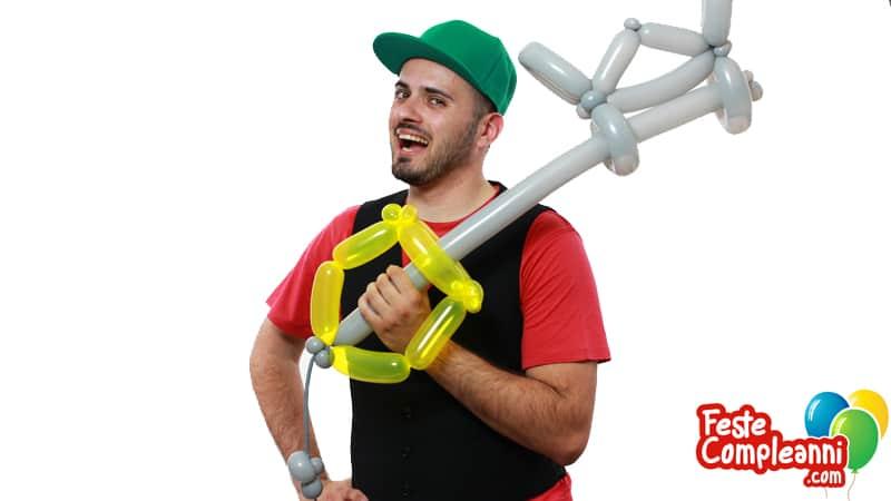 Cosplay Balloon - Keyblade con Palloncini