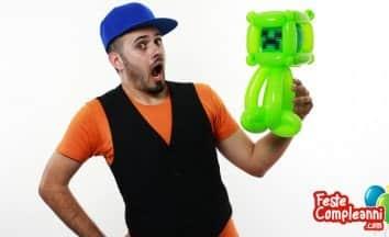 Creeper Minecraft - Scultura con Palloncini