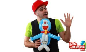 Palloncino Doraemon - Tutorial Doraemon Balloon Art - Feste Compleanni