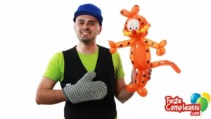 Garfield Balloon Tutorial - Feste Compleanni