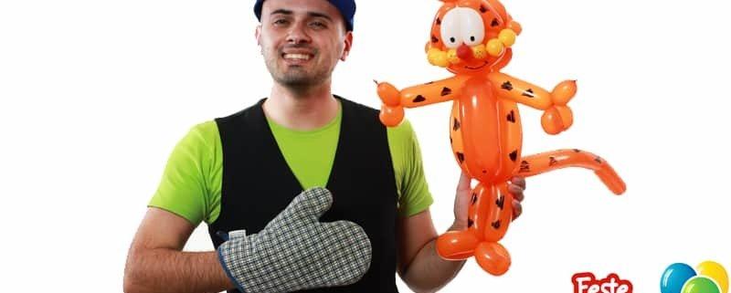 Garfield Balloon Tutorial - Feste Compleanni