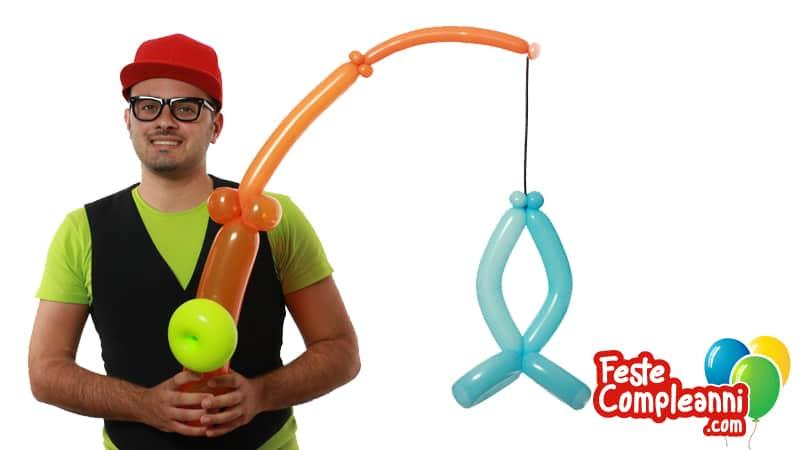 Tutorial palloncini modellabili - Canna da pesca