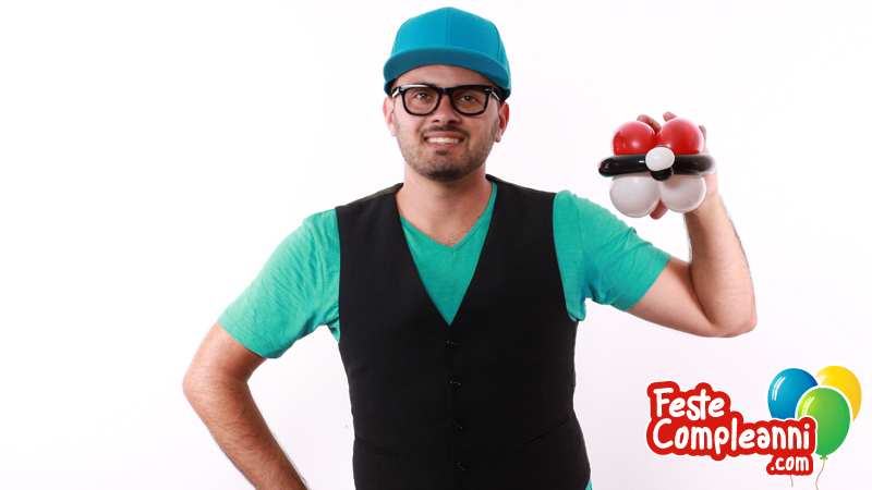 Pokemon go Pokeball - Scultura con Palloncini