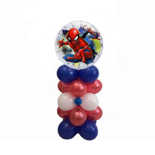 COLONNA PALLONCINI SPIDERMAN BUBBLE