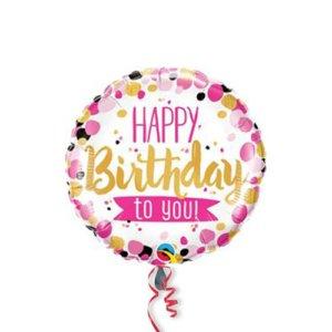 PALLONCINO Happy-Birthday-Pink-Gold